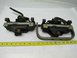 Feedrail 3 Pole Transfer Type Trolley With Brush Contacts Lot Of 2