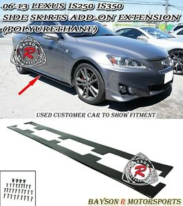 Side Skirts Add on Extension Splitters urethane Fits 06 13 Lexus Is250 Is350