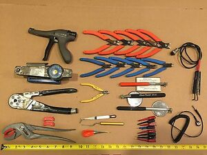 Avionics Tools Cannon Plug Pliers Cable Tie Tool Removal Tools 32pc