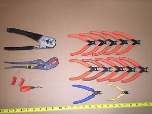 Avionics Tools Cannon Plug Pliers Crimp Tool Cutters 16pc