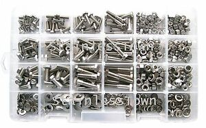 Stainlesstown Stainless Steel Hex Head Bolt Master Kit Asst 475pc Free Gauge