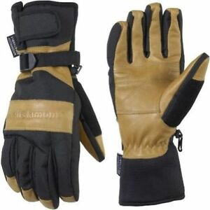 New Wells Lamont 7660 Grips Gold Insulated waterproof Work Gloves Cognac Brown