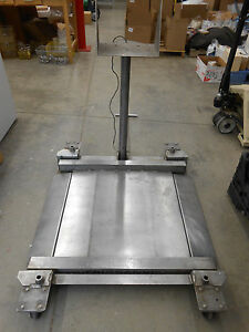 Fairbanks H23 2512 Drum Weighing Scale With Wheels 30 X 30 1000lb No Head Unit