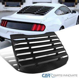 2015 2017 Ford Mustang Gt Racing Black Rear Window Louver Sun Shade Cover