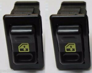 1992 Camaro Window Switch 2 New Pair Set 2 Gm 10098781 Yellow Graphics