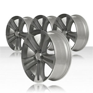 Revolve 19x7 5 Machined charcoal Wheel For 08 13 Toyota Highlander set Of 4