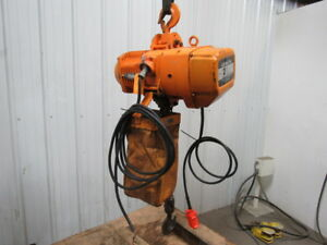 Harrington Es2b 3065 2 Ton Electric Chain Hoist 220 440v 3ph 11 Lift 26fpm
