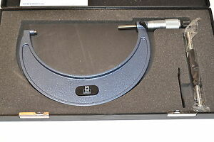 Nos Moore Wright Uk P n 19666 5 6 001 Grad Carbide Outside Micrometer 064