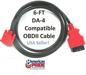 6ft Compatible Da 4 Obdii Obd2 Data Cable For Snap On Scanner Verdict Eems324