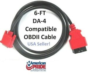 6 Obdii Obd2 Cable Compatible With Snap On Da 4 For Ethos Plus Scanner Eesc319