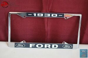 1930 Ford Car Pick Up Truck Front Rear License Plate Holder Chrome Frame New