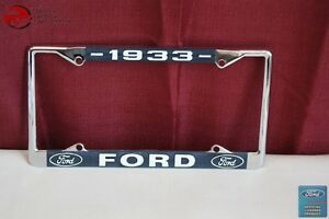 1933 Ford Car Pick Up Truck Front Rear License Plate Holder Chrome Frame New