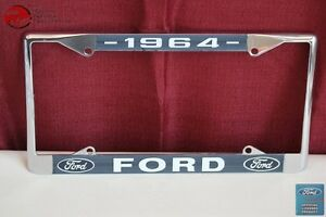 1964 Ford Car Pick Up Truck Front Rear License Plate Holder Chrome Frame New