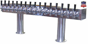 Stainless Steel Draft Beer Tower Made In Usa 16 Faucets Glycol Ready Ptb 16ssg