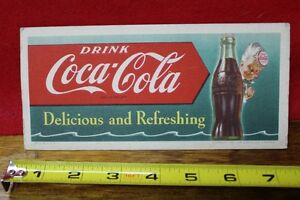 1953 Coca Cola Bottle Ink Blotter Delicious and Refreshing
