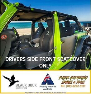 Black Duck Denim Drivers Seat Cover For Ford Falcon Fg 07 08 late 2014 Xl