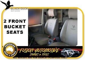 Black Duck Canvas Front Bucket Seat Covers For Ford Ranger Px 06 15 Xl Xls Xlt