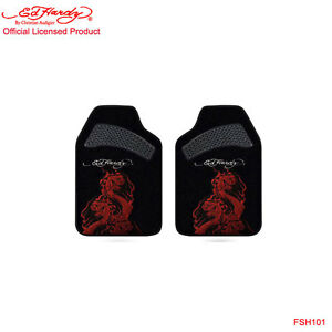 New Ed Hardy By Christian Audigier Cobra 2 Front Car Truck Carpet Floor Mats