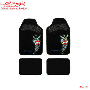 New Ed Hardy Christian Audigier Peacock Front Rear Car Truck Carpet Floor Mats