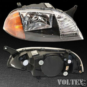 1998 2001 Suzuki Swift Chevrolet Metro Headlight Lamp Clear Lens Halogen Rh