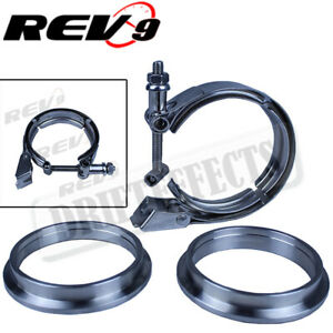 4 V band Quick Release Universal Clamp Flange Turbo Downpipe Stainless Steel