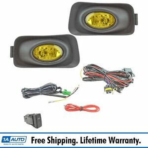 Add On Upgrade Yellow Lens Fog Light Bulb Switch Wiring Kit Set For Acura Tsx