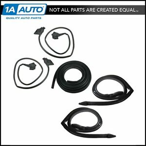 2 Door Roof Rail Trunk Weatherstrip Seal Kit For 78 80 Buick Olds Coupe Hardtop