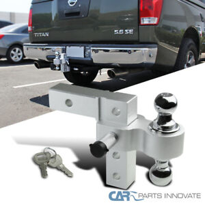 2 Trailer Receiver Truck Rv 6 Drop Adjustable Aluminum Tow Ball Hitch W Lock