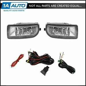 Add On Upgrade Clear Lens Fog Light Switch Wiring Kit Set For Land Cruiser New