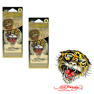 New 6pc Ed Hardy Tiger Air Freshener Vanilla Scent For Car House Office Closets
