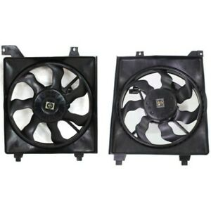 Radiator Cooling Fan W A C Condenser Fan For 2006 2011 Hyundai Accent Set Of 2