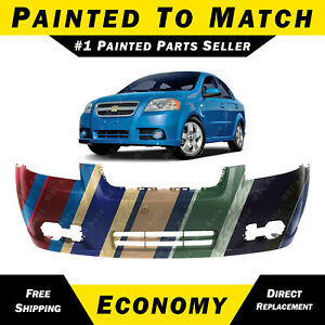 New Painted To Match Front Bumper Cover 2007 2011 Chevy Aveo Sedan