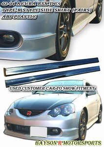Tr style Side Skirts pp Fits 02 04 Rsx Dc5