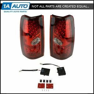 Performance Red Lens Led Taillight Lamp Kit Pair Set For Silverado Sierra Truck