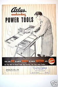 Atlas Woodworking Power Tools Catalog No W55 1954 rr172 Saw Drill Jointer