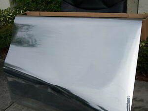 One Way Mirror Film 20 wide X Per Foot Super Dark Reflective Silver Window Tint