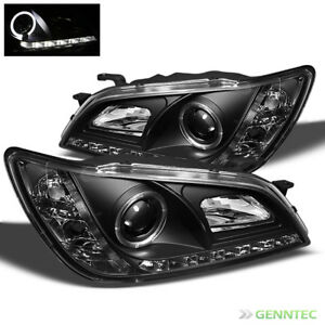 For 2001 2005 Lexus Is300 Halo Drl Led Pro Headlights Blk Pair Head Lights