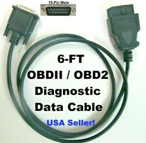 Replacement Obd2 Obdii Scanner Data Cable For Spx Otc Cornwell 3498 Scanpro 3499