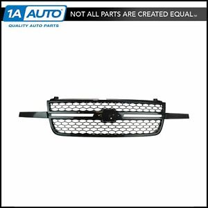 Front Upper Black Grille Assembly For Chevy Silverado Ss Pickup Truck New