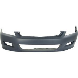 Front Bumper Cover For 2006 2007 Honda Accord Coupe W Fog Lamp Holes Primed