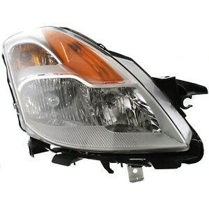 Headlight For 2008 2009 Nissan Altima 2door Coupe Right With Bulb