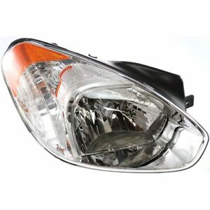 Halogen Headlight For 2006 Hyundai Accent Right W Bulb