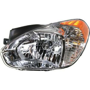 Halogen Headlight For 2007 2011 Hyundai Accent Left W Bulb