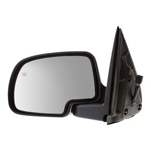 Smooth Black Power Heated Left Driver Side Mirror Fits Cadillac Chevrolet Gmc