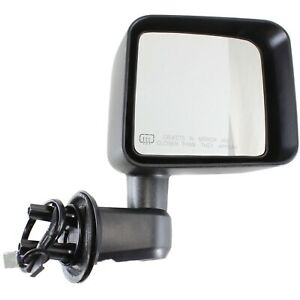 Power Mirror For 2011 2013 Jeep Wrangler jk Right Heated Textured Black