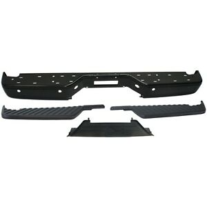 Step Bumper Kit For 2004 2014 Nissan Titan Rear 4pc With Bumper Step Pad