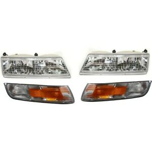 Headlight Kit For 95 97 Mercury Grand Marquis Left And Right 4pc