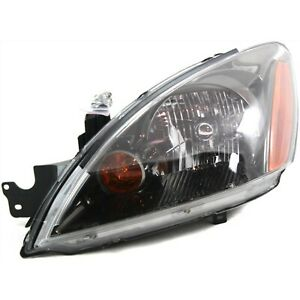 Headlight For 2004 2007 Mitsubishi Lancer Left Black Housing With Bulb