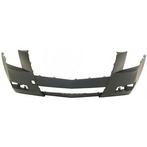 Front Bumper Cover For 2008 2014 Cadillac Cts W Fog Lamp Holes Primed Capa