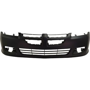 Front Bumper Cover For 2003 2005 Dodge Stratus Coupe W Fog Lamp Holes Primed